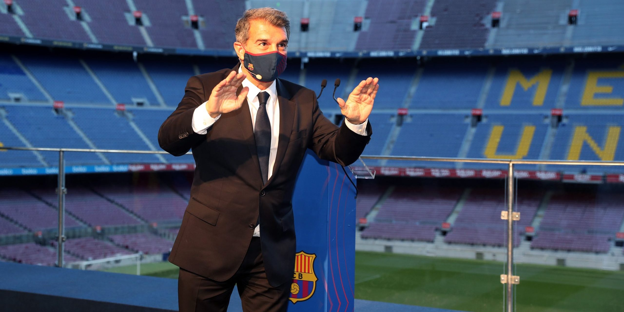 Joan Laporta, en roda de premsa | FC Barcelona