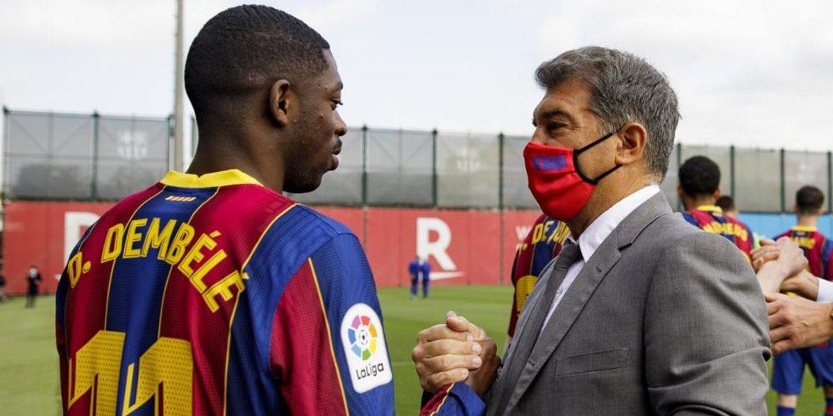 Dembélé, amb Joan Laporta | FC Barcelona