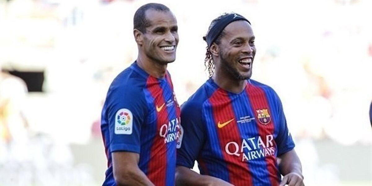 Rivaldo i Ronaldinho, durant un partit del Barça Legends | Europa Press