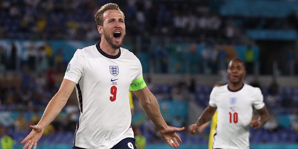 Kane celebra el primer gol anglès   UEFA EURO 2020