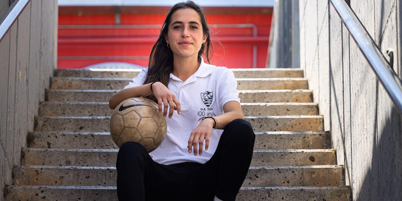 Miti Vendrell, entrenadora de la Unió Esportiva Tous | Jordi Borràs