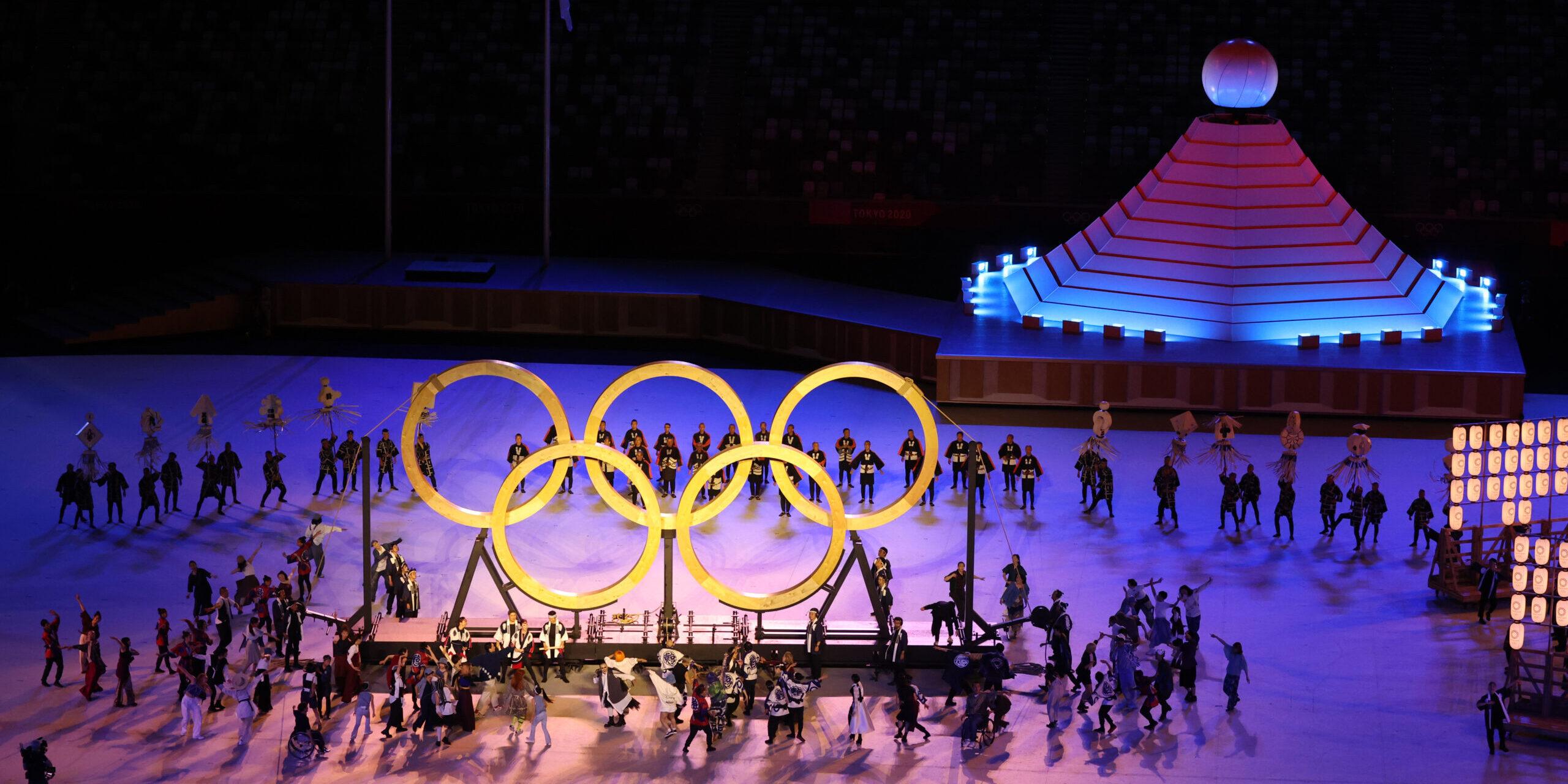 Les anelles olímpiques, a la cerimònia d'inauguració de Tòquio 2020 | Europa Press