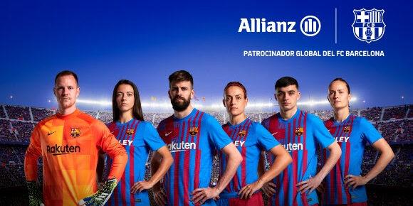 Imatge promocional de l'acord del Barça amb Allianz | FC Barcelona