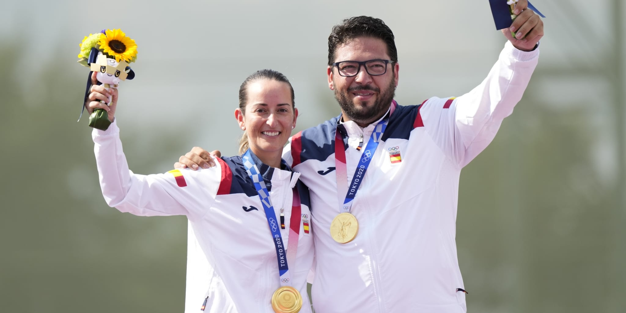 Fátima Gálvez i Alberto Fernández | Twitter Comitè Olímpic Espanyol
