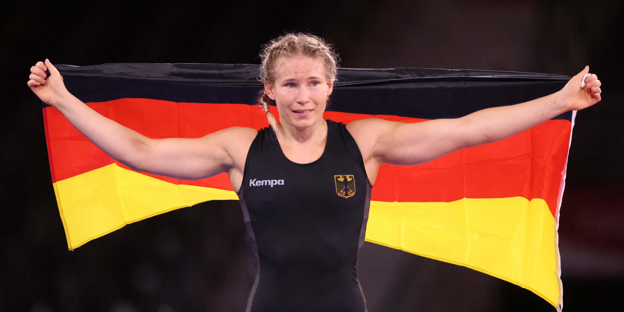 Aline Rotter-Focken, campiona olímpica de la categoria de 76 quilograms de lluita | Europa Press
