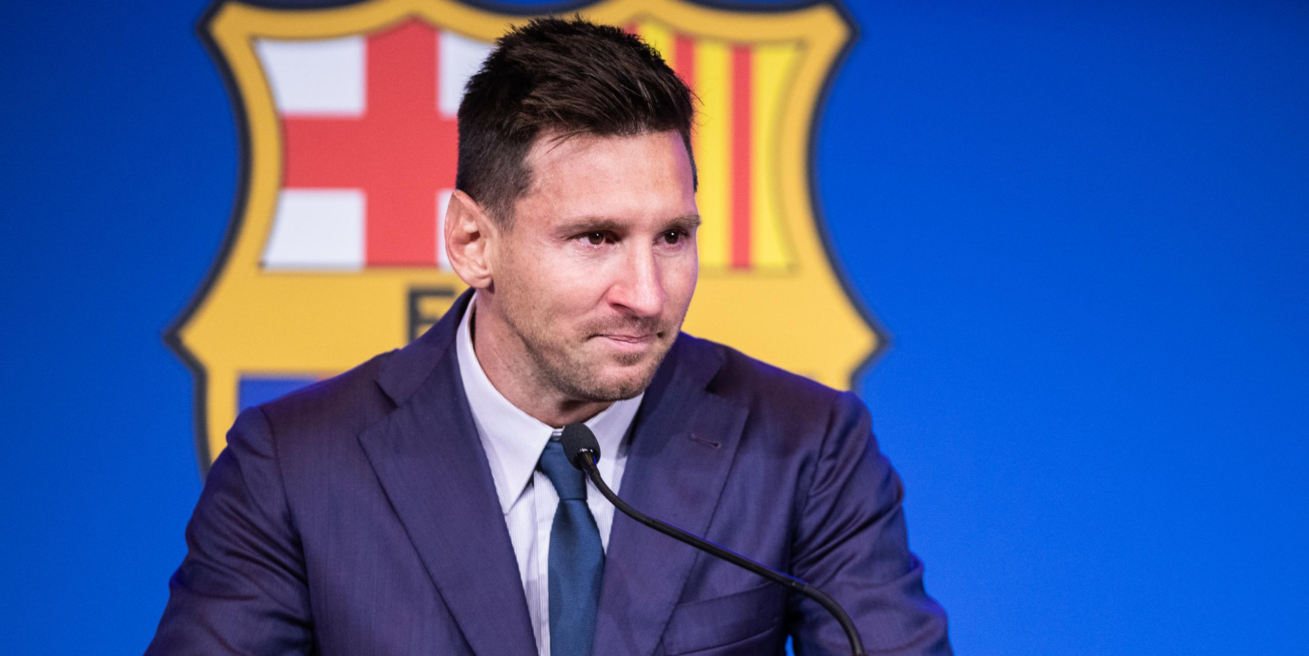 Messi, durant el comiat amb el Barça | Europa Press