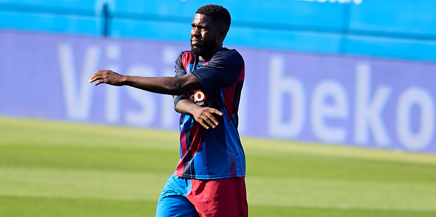 Umtiti, durant la pretemporada amb el Barça | Europa Press