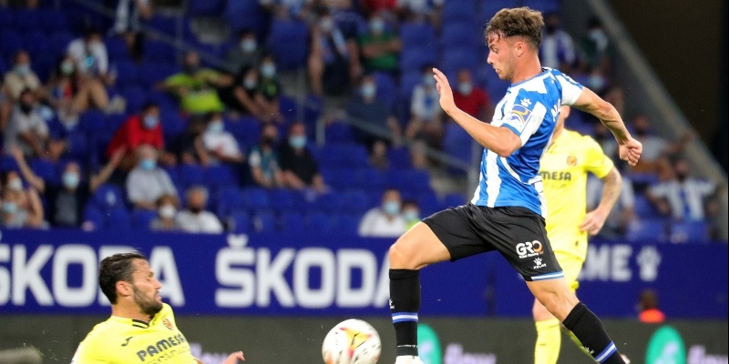 Javi Puado durant el partit contra el Vila-real | RCD Espanyol