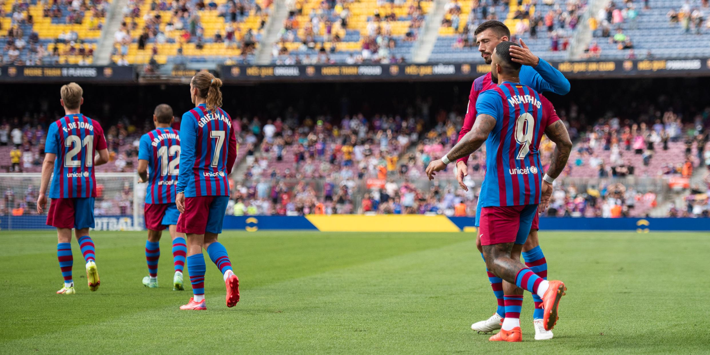 Els jugadors del Barça celebren un gol contra el Getafe | Europa Press