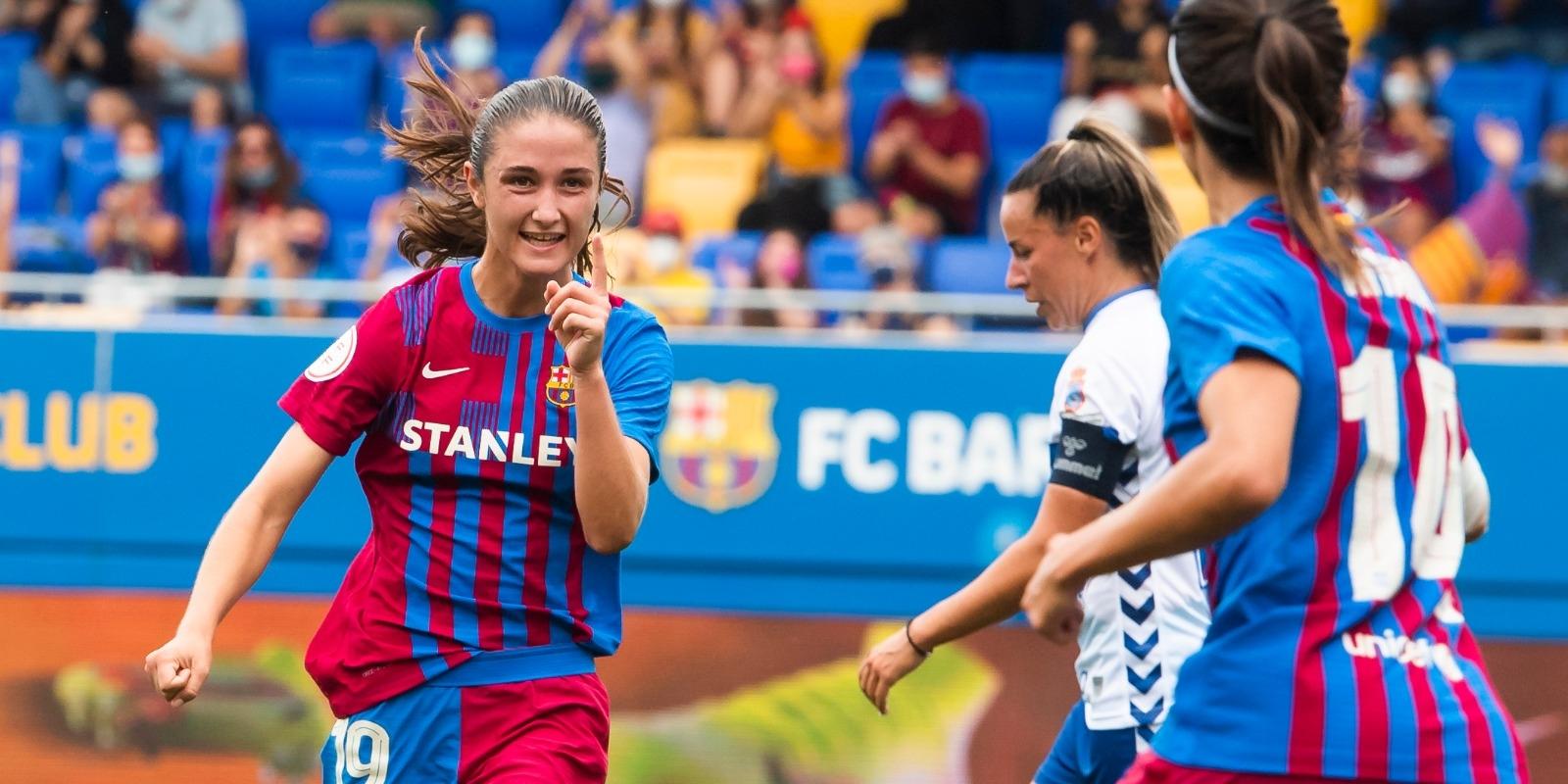 Bruna Vilamala celebra un gol   FC Barcelona