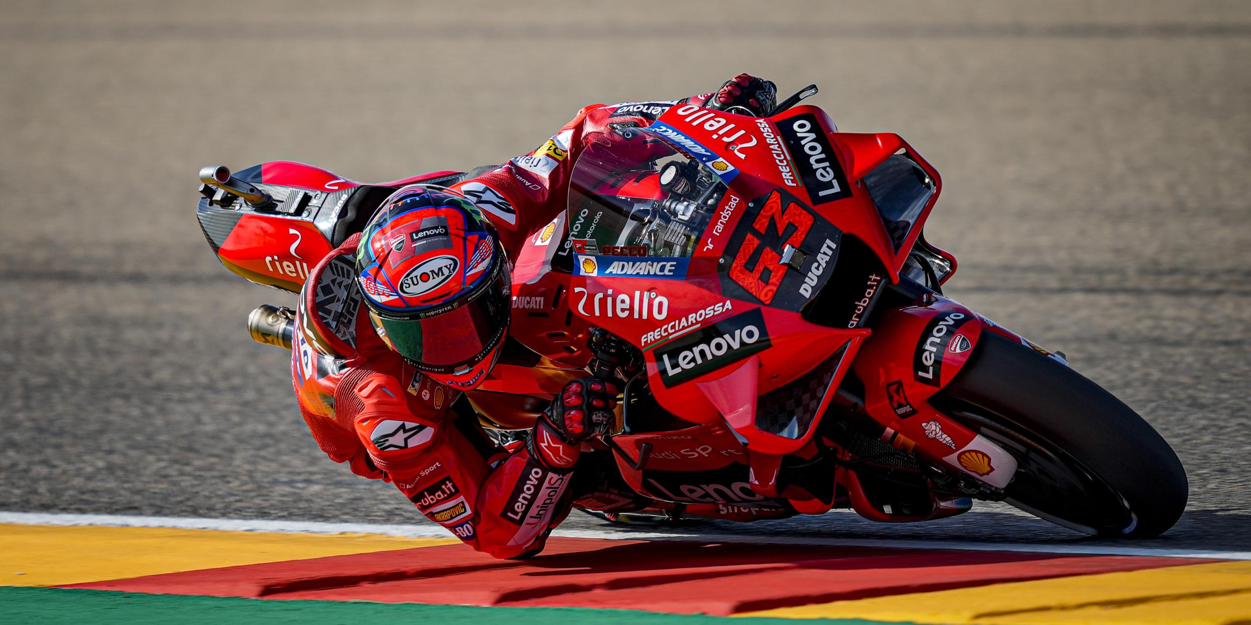 Francesco Bagnaia durant el GP d'Aragó | Europa Press