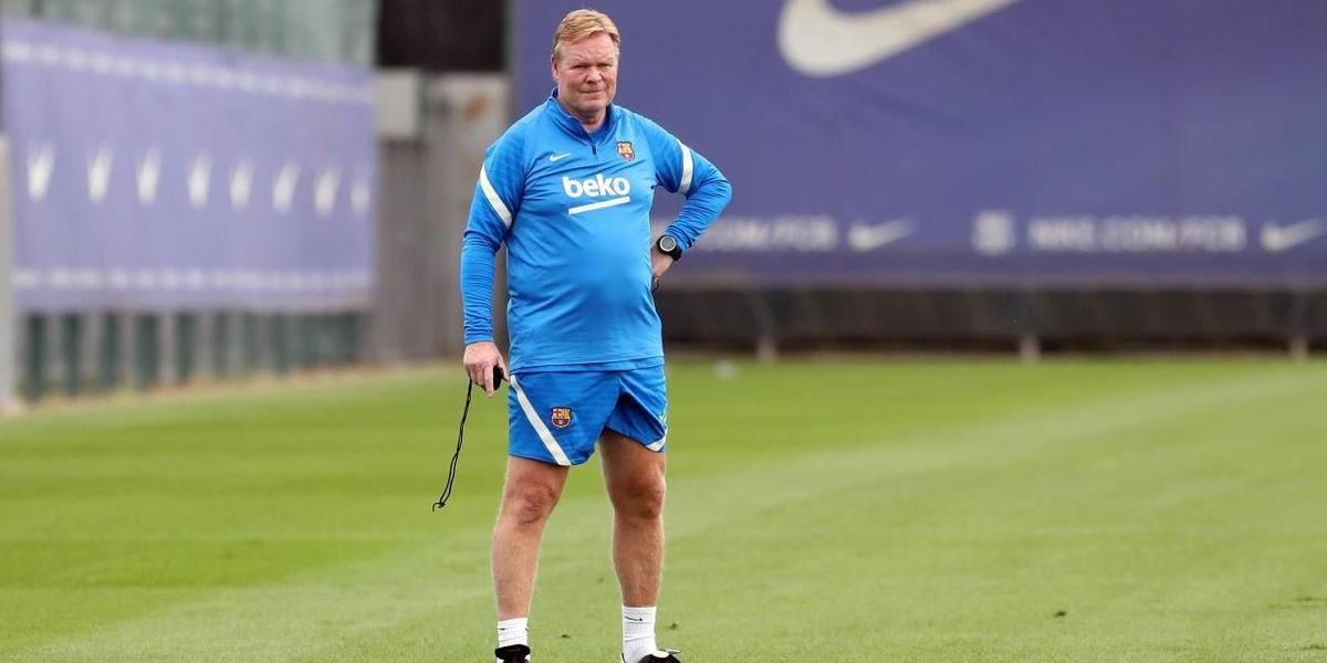 Ronald Koeman, durant un entrenament | FC Barcelona
