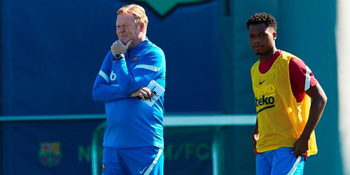 Koeman, amb Ansu Fati | FC Barcelona