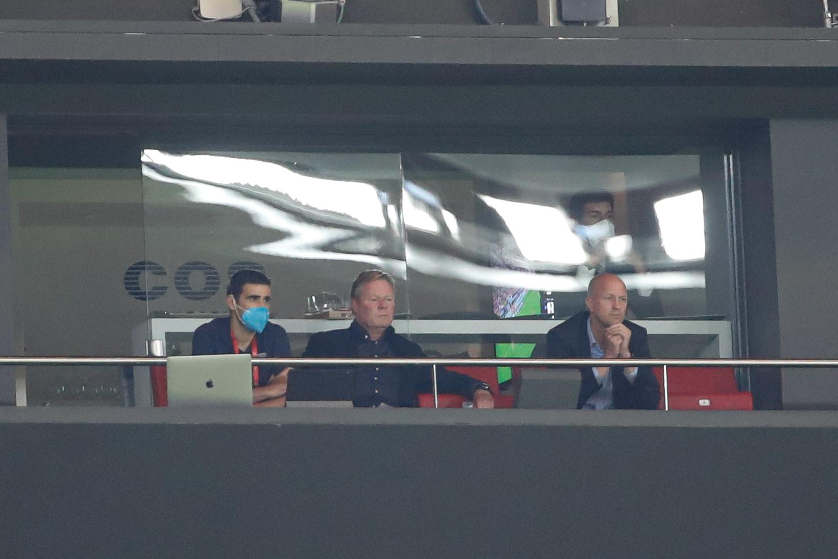 Ronald Koeman, amb Jordi Cruyff | Europa Press