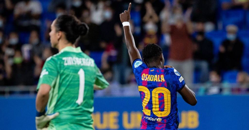 Asisat Oshoala celebra un gol | FC Barcelona