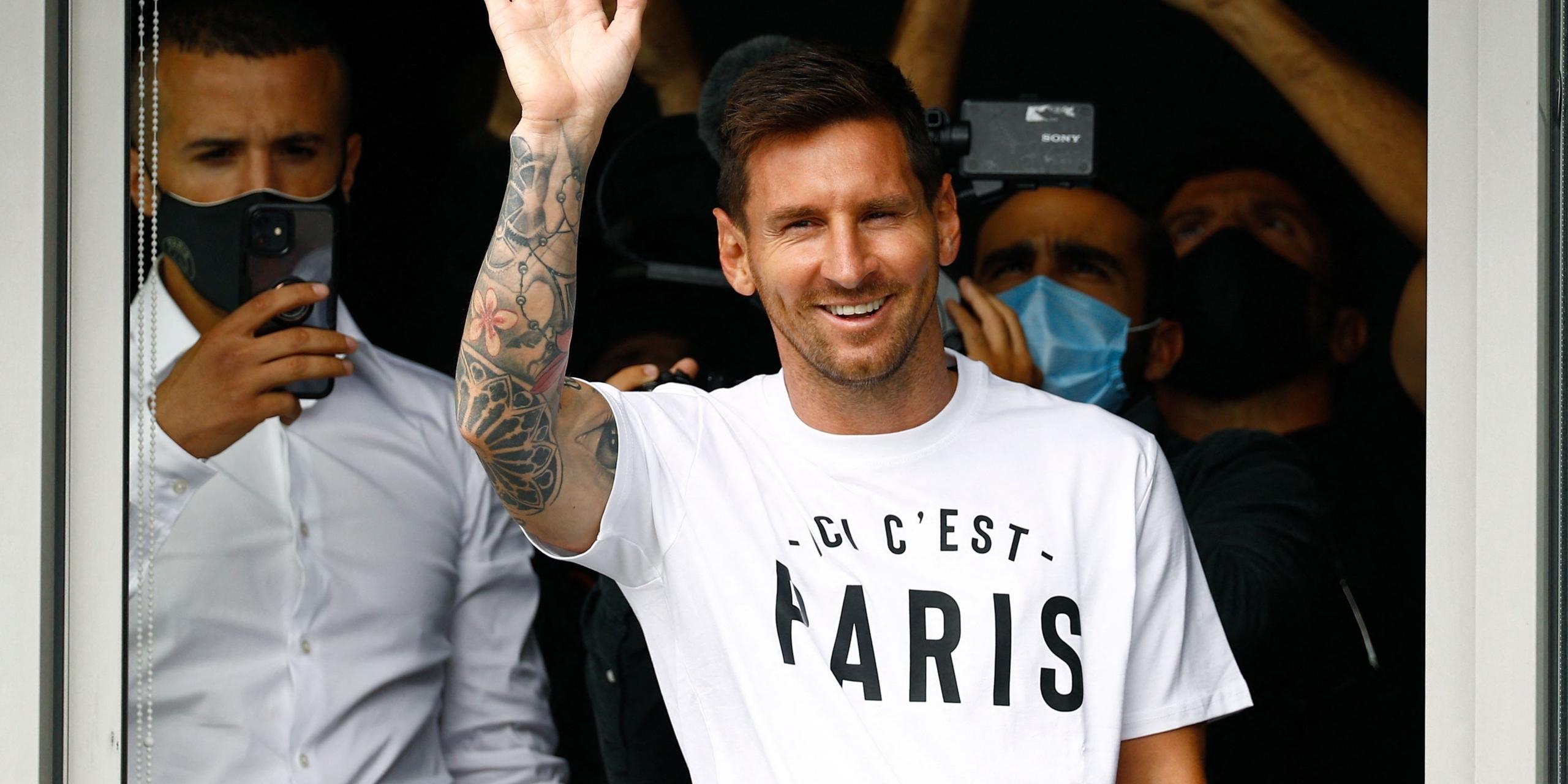 Leo Messi, en la seva arribada al PSG | Europa Press