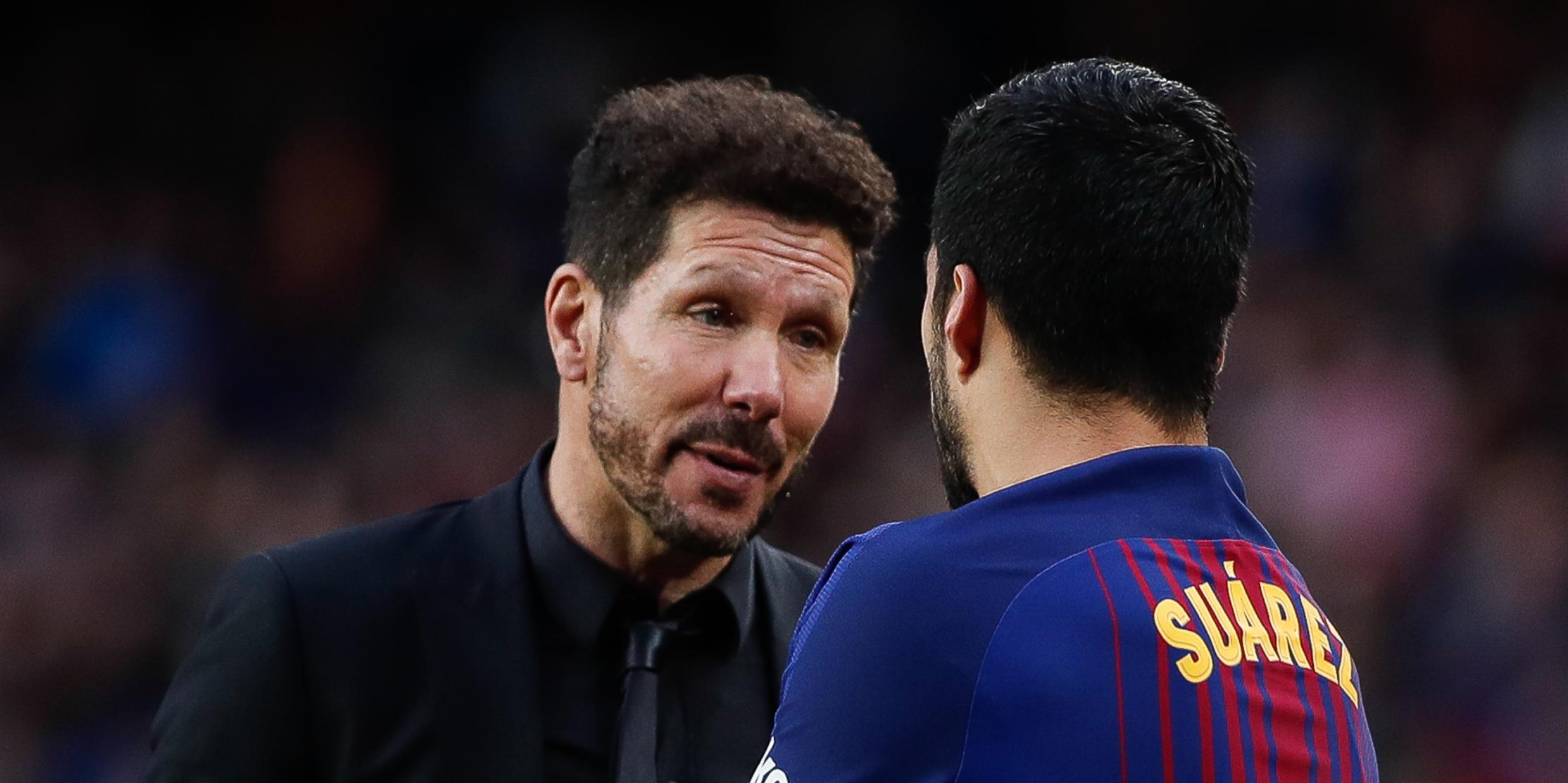 Simeone i Luis Suárez, al Camp Nou | Europa Press