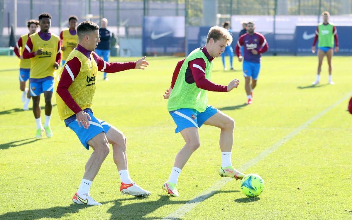 Frenkie de Jong, durant un entrenament | FC Barcelona