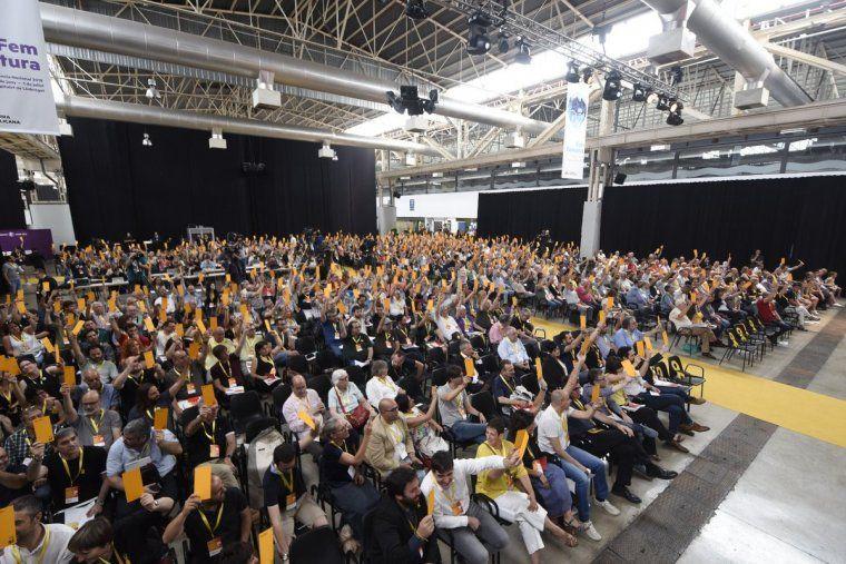 Una imatge del plenari de la conferència nacional