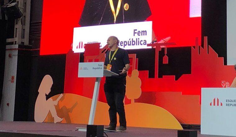 Jordi Fàbrega, en el moment de defensar l'esmena