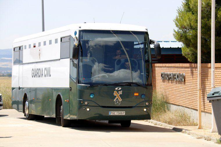 Imatge d'arxiu d'un autocar de la Guàrdia Civil que trasllada empresonats