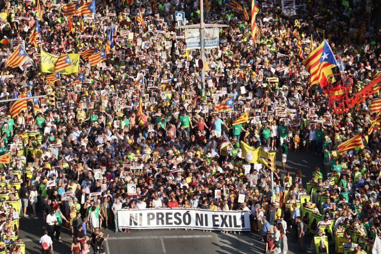 Imatge aèria de la manifestació