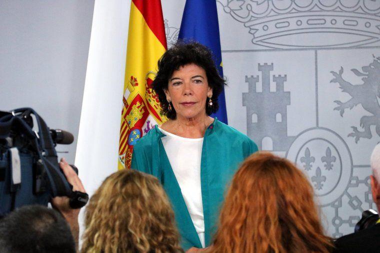 La portaveu del govern espanyol, Isabel Celaá