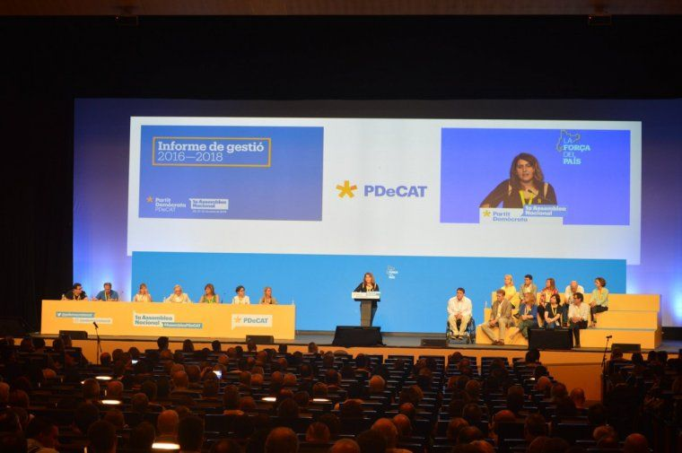 Una imatge del plenari del PDeCAT