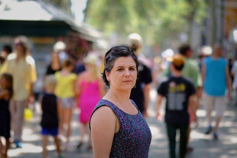 La regidora del districte de Ciutat Vella, Gala Pin, a les Rambles aquest dimarts