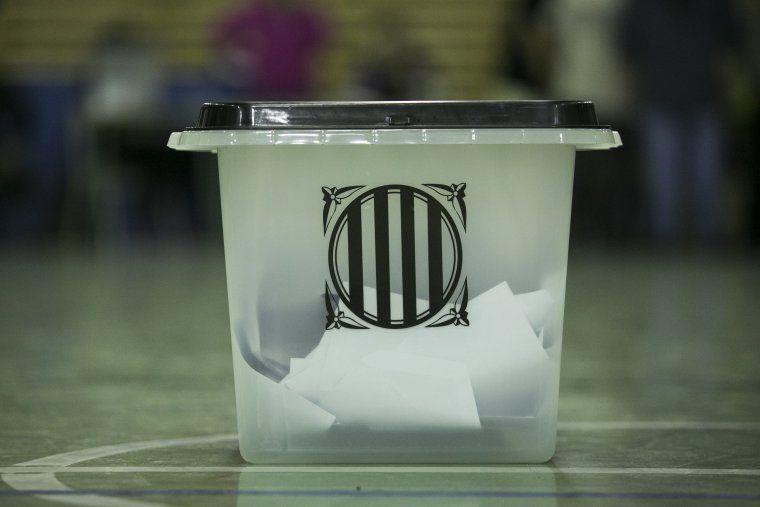 Una de les urnes del referendum de l'1 d'octubre a Rubí