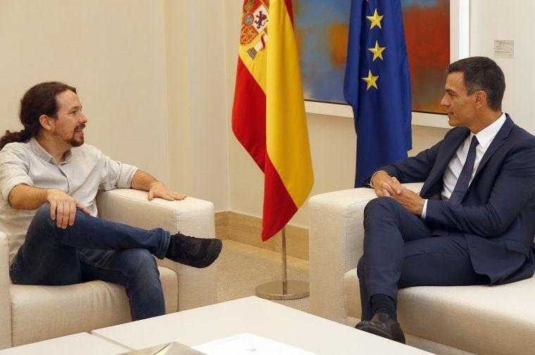 Pablo Iglesias i Pedro Sánchez