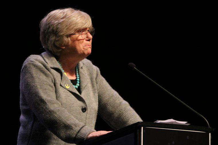 La consellera a l'exili Clara Ponsatí durant la presentació del Consell per la República