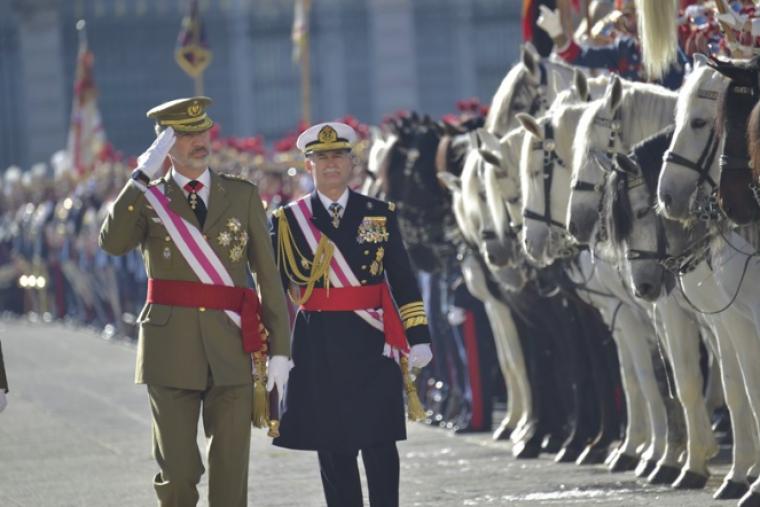 El rei Felip presideix la Pasqua Militar