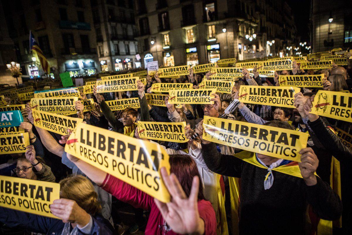 Manifestació per demanar la llibertat dels presos polítics JORDI BORRÀS