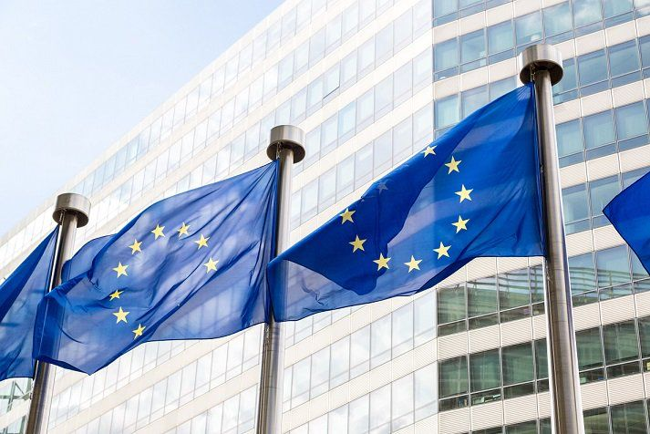 Banderes europees a Brussel·les   Exteriores