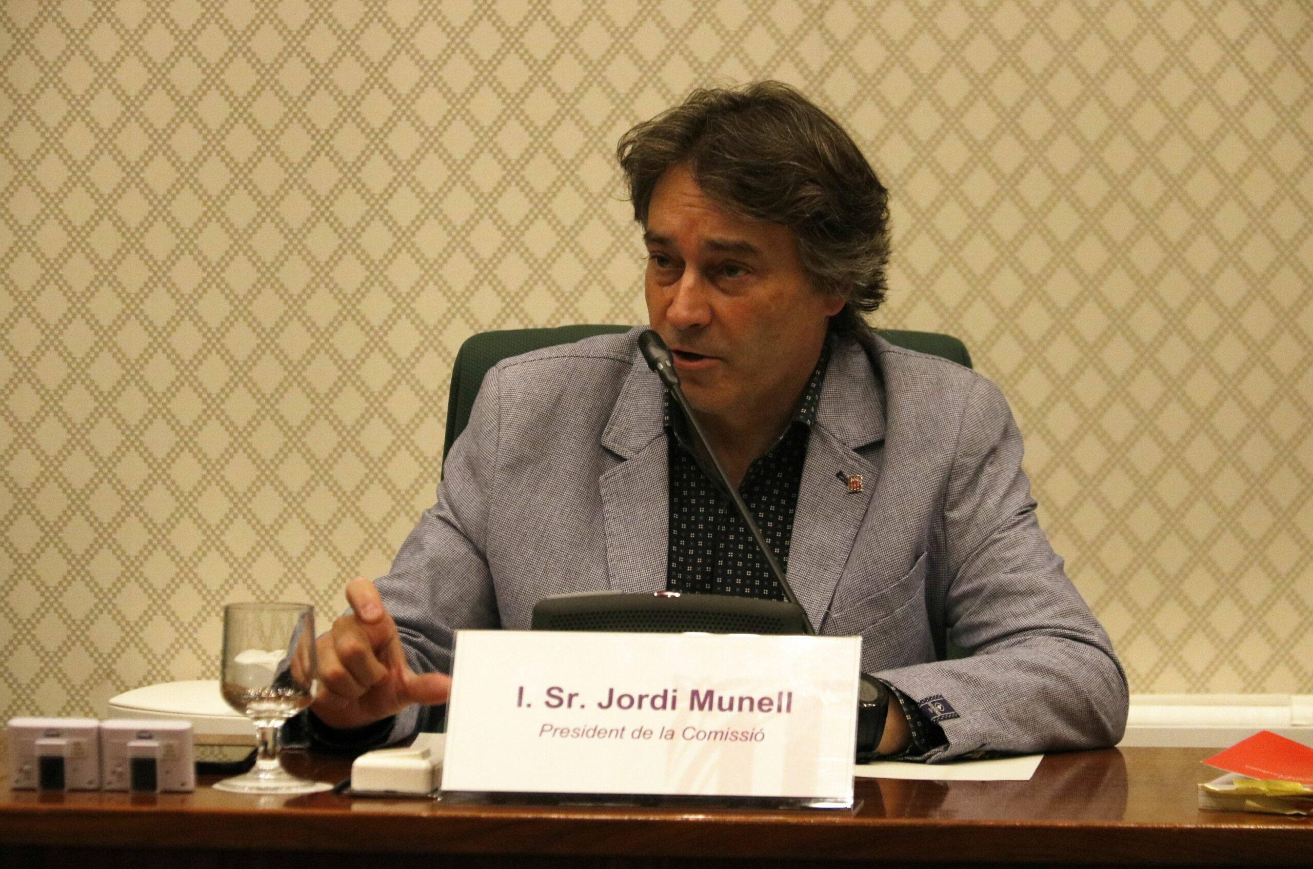 Jordi Munell al Parlament de Catalunya (ACN)
