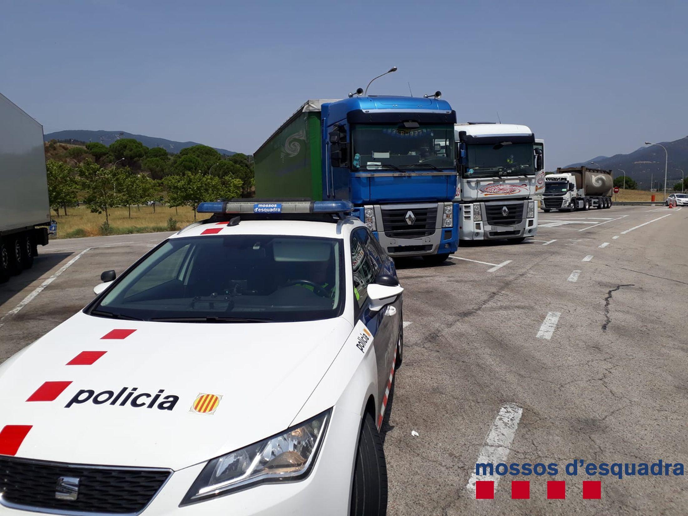 Camions aturats