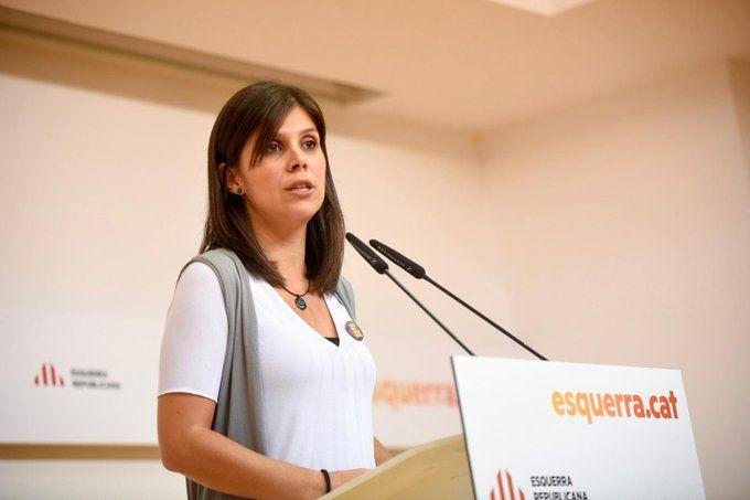 Marta Vilalta, en un moment de la roda de premsa