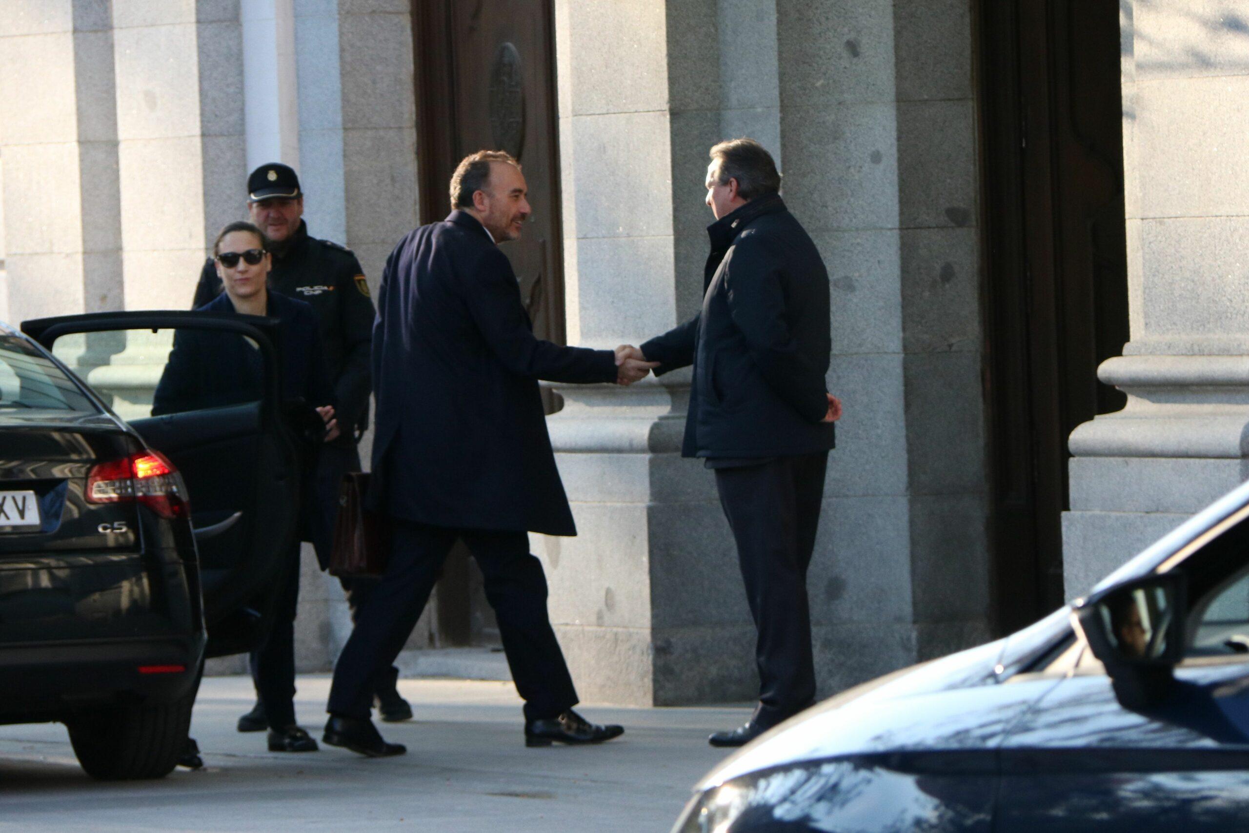El president de la sala penal del Tribunal Suprem, Manuel Marchena, a l'entrada a l'alt tribunal   ACN
