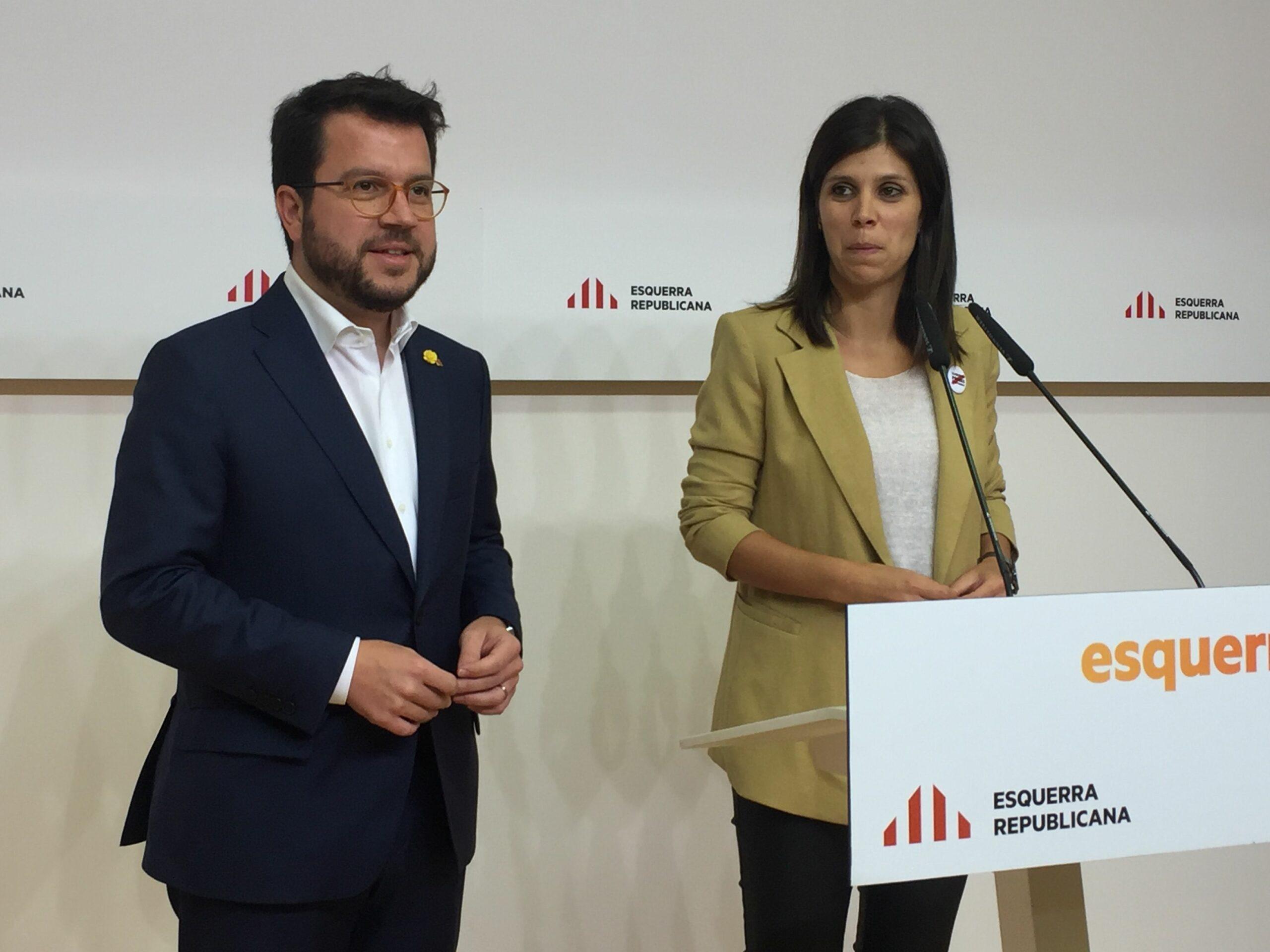 Pere Aragonès i Marta Vilalta