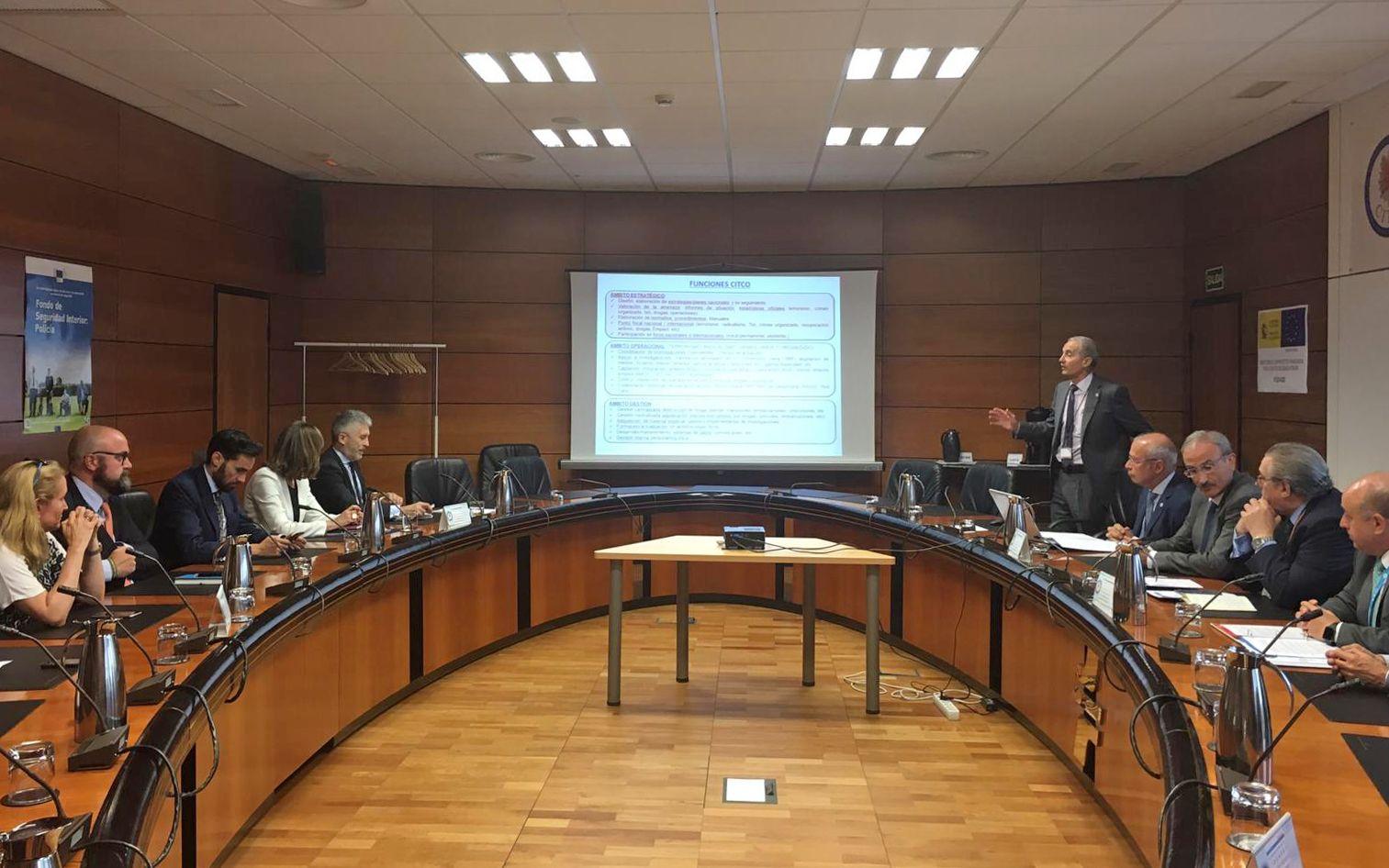 Marlaska, en una reunió a la seu del CITCO