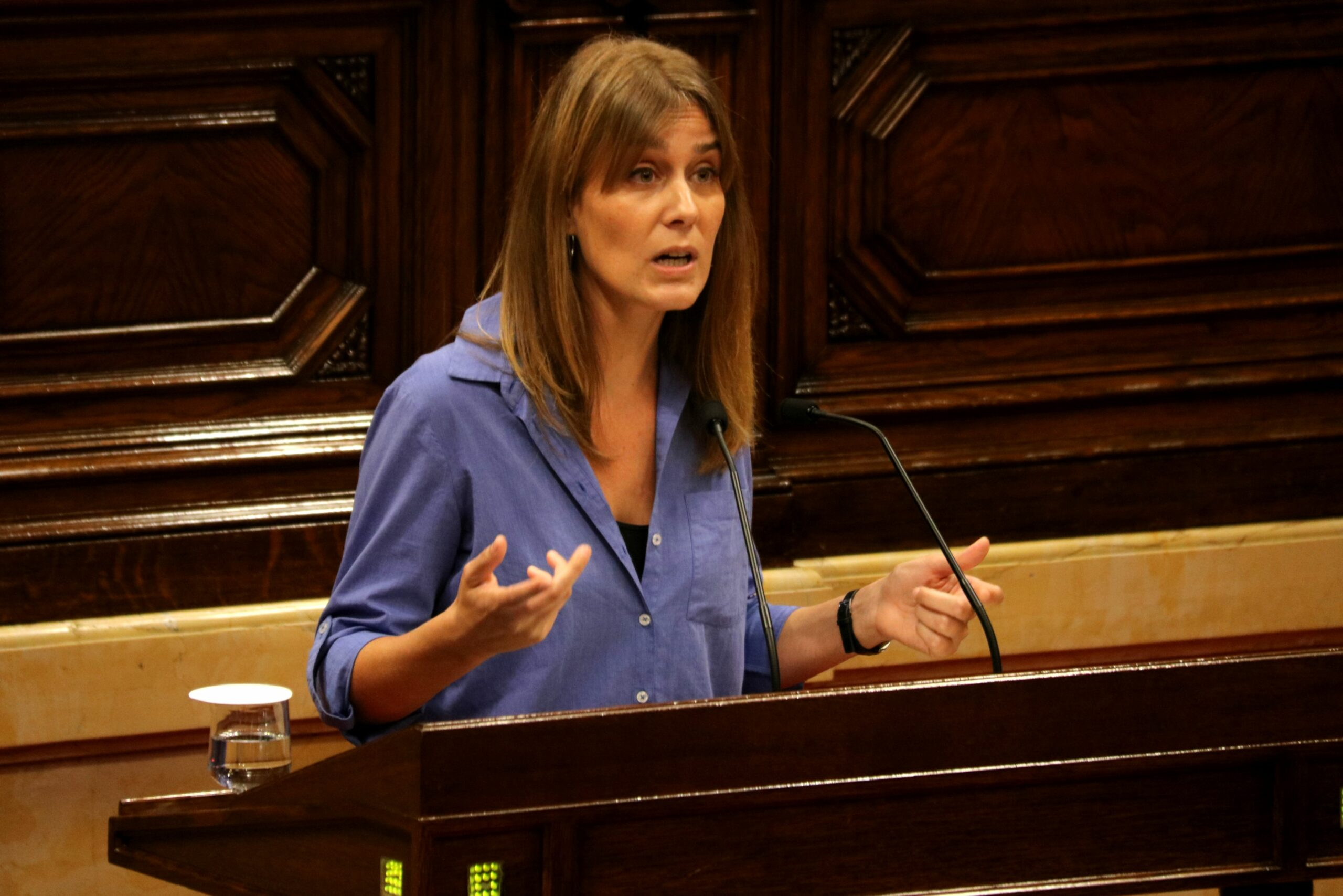 La presidenta del grup de CatECP, Jéssica Albiach