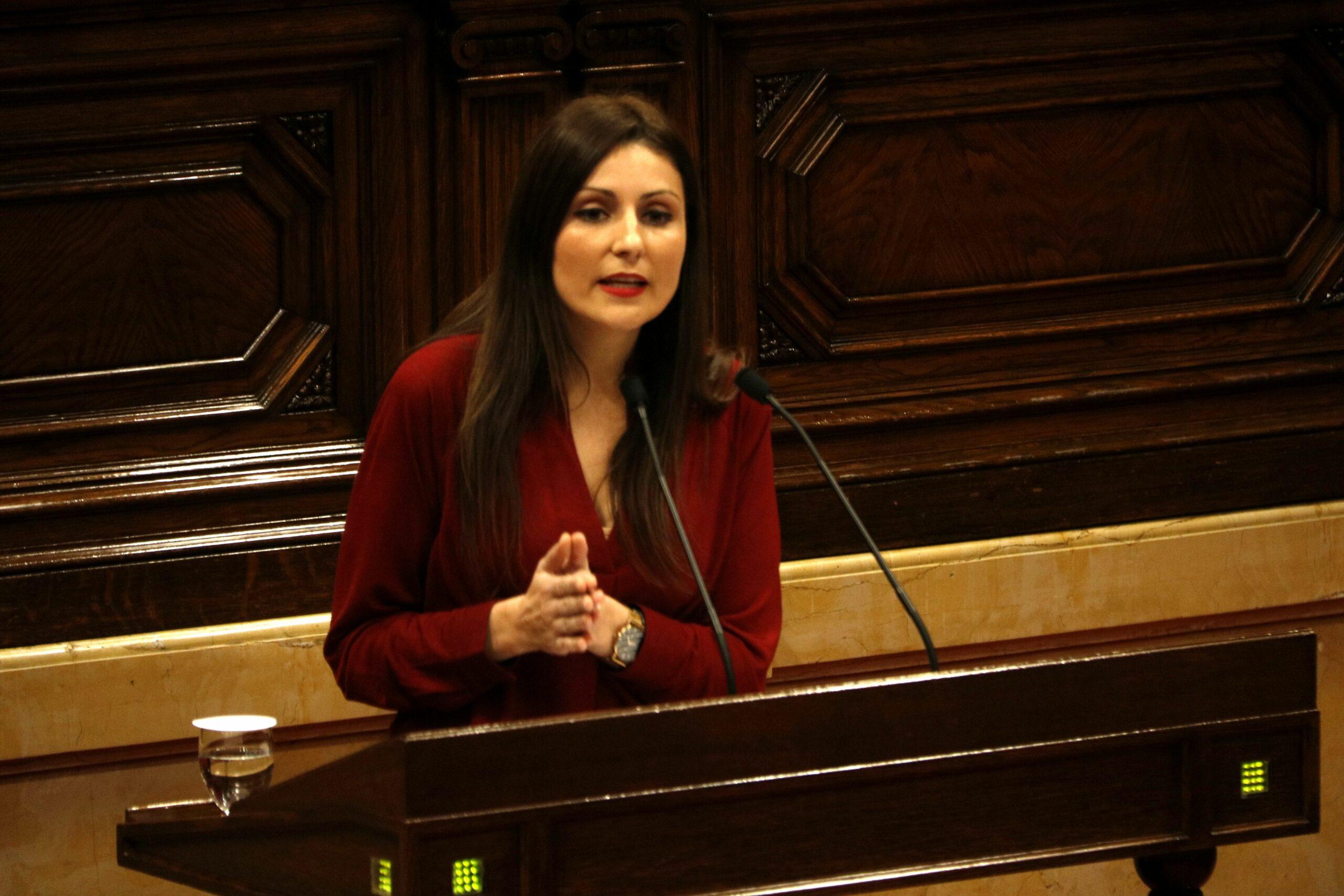 Lorena Roldán al debat sobre corrupció (ACN)