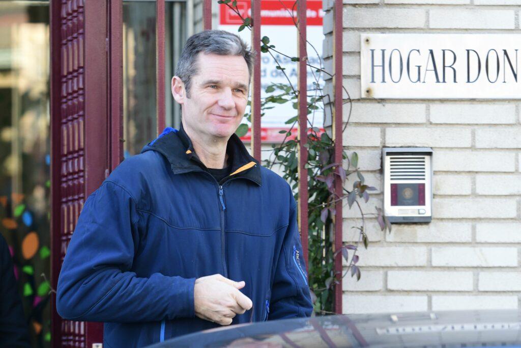 Iñaki Urdangarin, a la sortida del centre de voluntariat / Europa Press