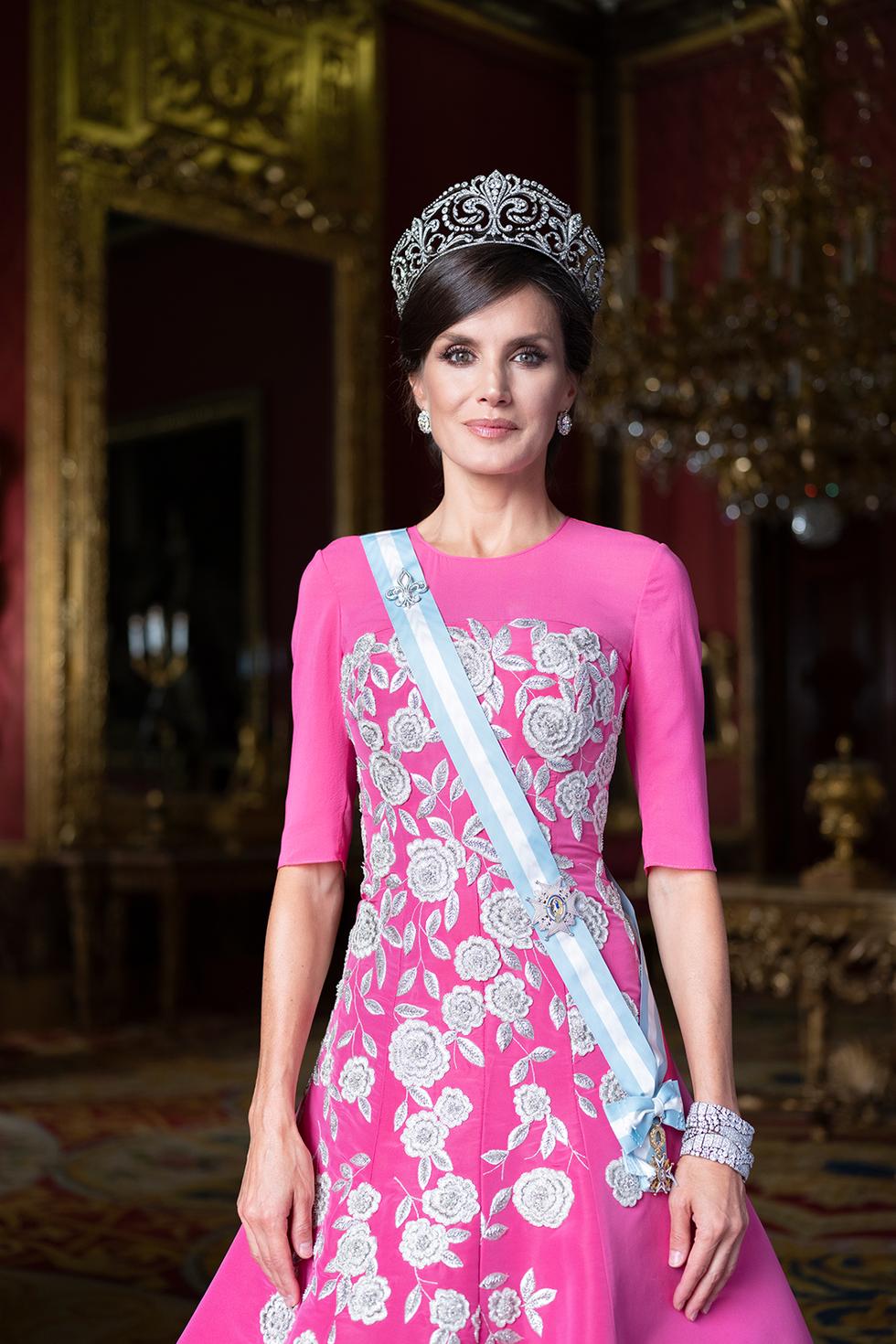 Retrat oficial de la reina Letícia   Casa Reial