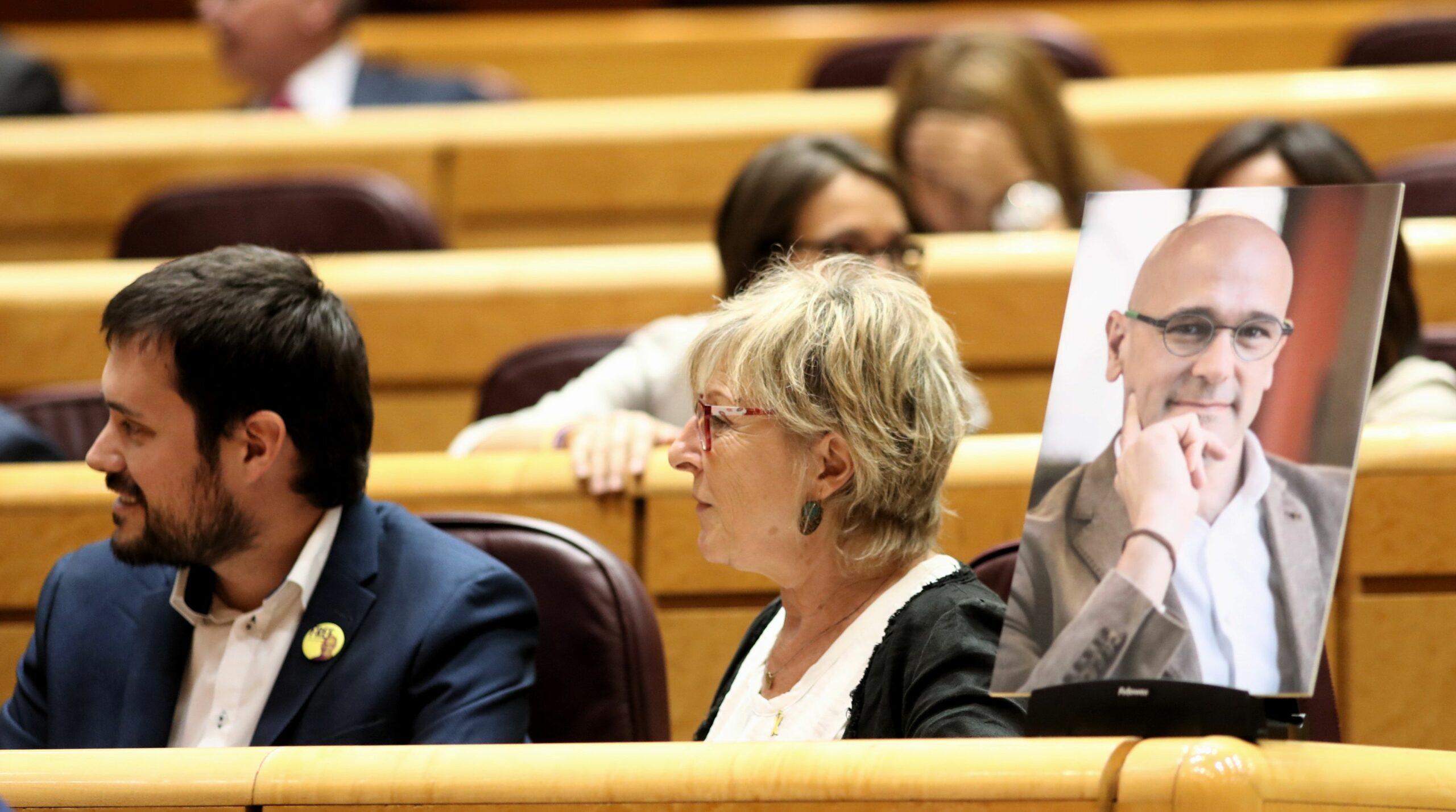 Els portaveus d'ERC al Senat Bernat Picornell i Mirella Cortés (Europa Press)