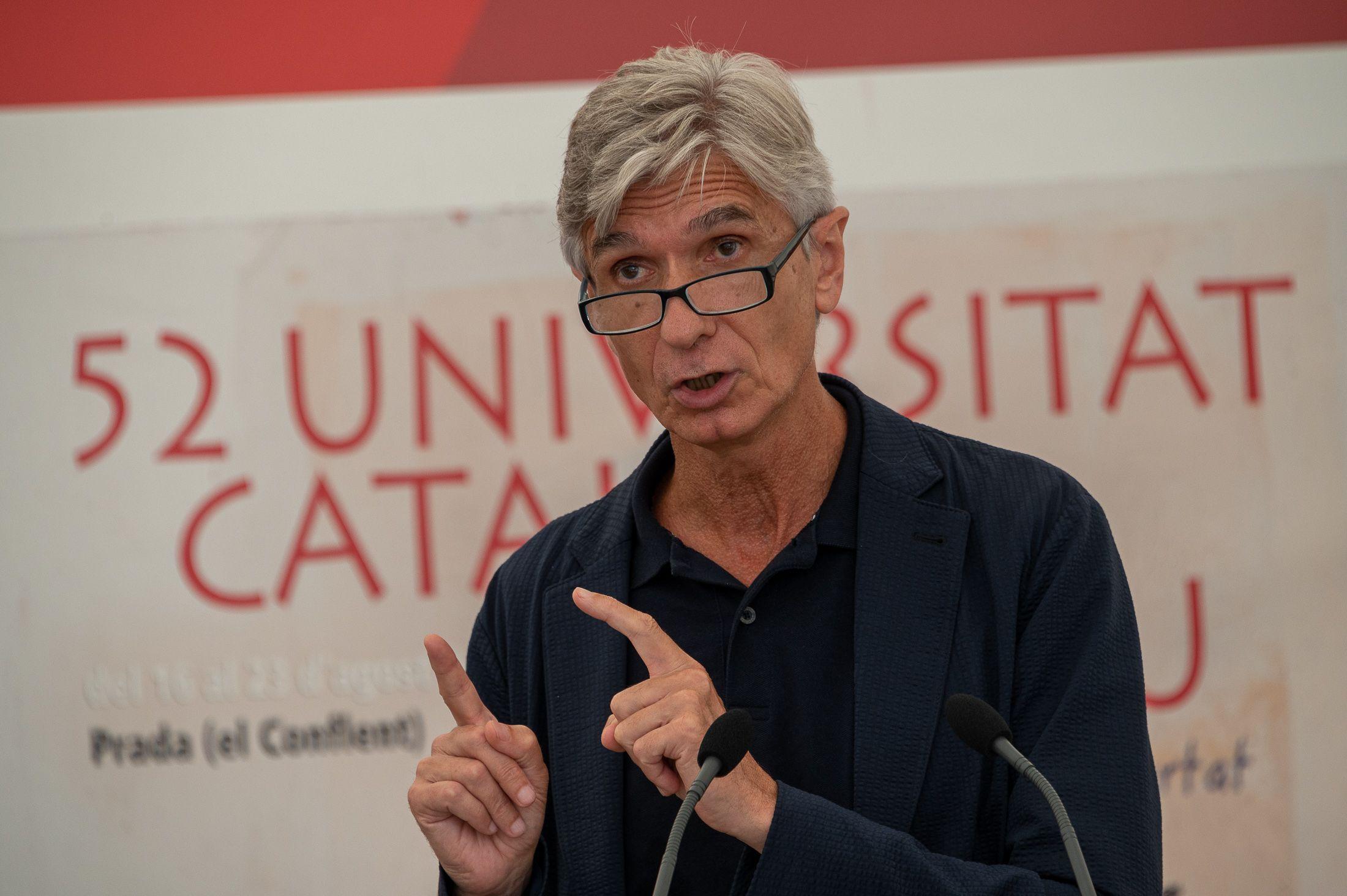Josep Maria Argimon, aquest migdia a la UCE/Josep Maria Montaner