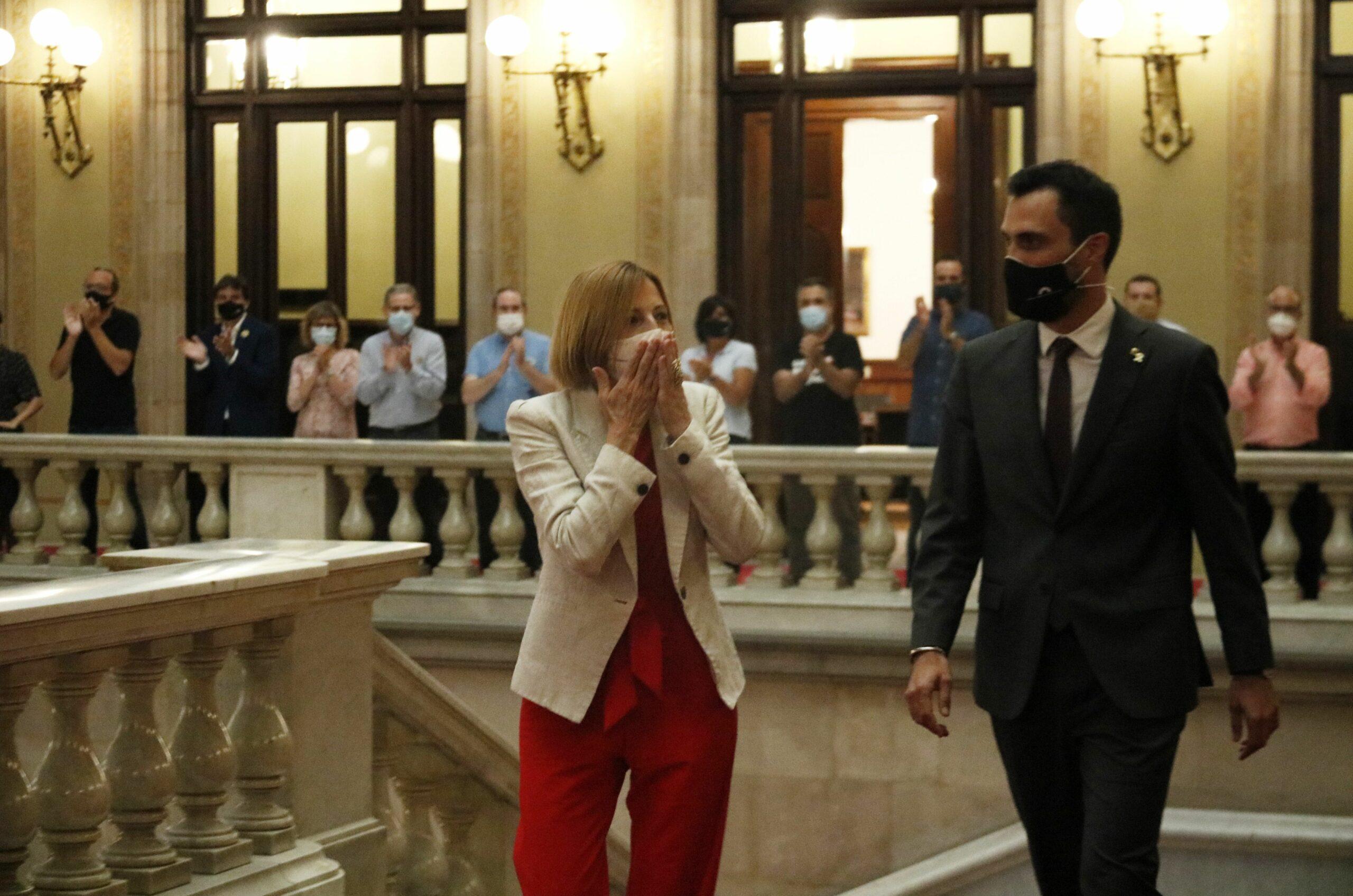 Carme Forcadell torna al Parlament (ACN)