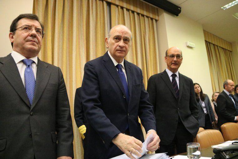 L'exministre de l'Interior, Jorge Fern?ndez D?az, a la comissi? d'investigaci? sobre l'Operaci? Catalunya