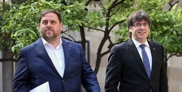 Oriol Junqueras i Carles Puigdemont, en una imatge darxiu | Europa Press